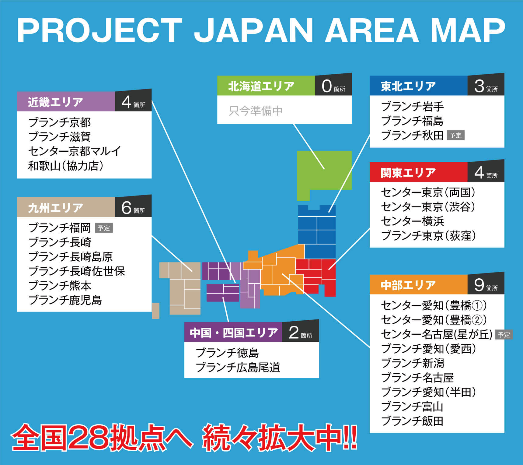 PROJECT JAPAN AREA MAP